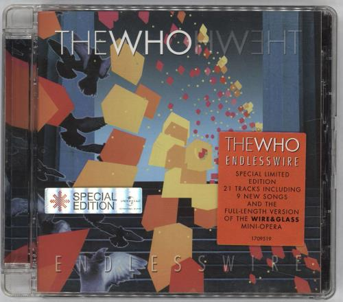 The Who Endless Wire - Stickered case CD album (CDLP) UK WHOCDEN711365