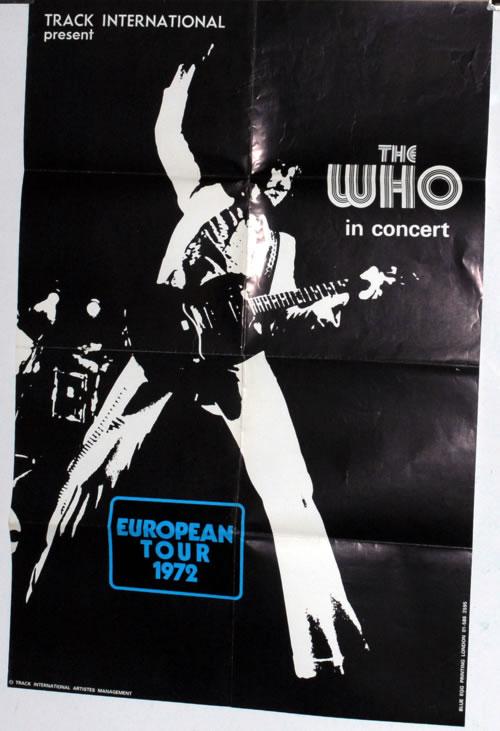 The Who European Tour 1972 poster UK WHOPOEU588814