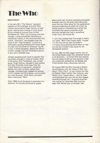 The Who Goodbye Summer - A Rock Concert - VG tour programme UK WHOTRGO716155