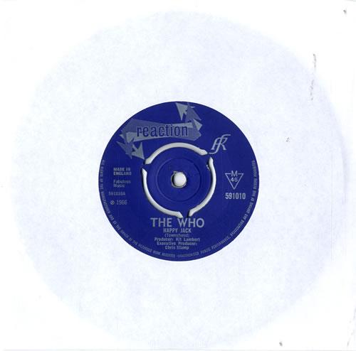 "The Who Happy Jack - 3pr - VG 7"" vinyl single (7 inch record) UK WHO07HA604436"