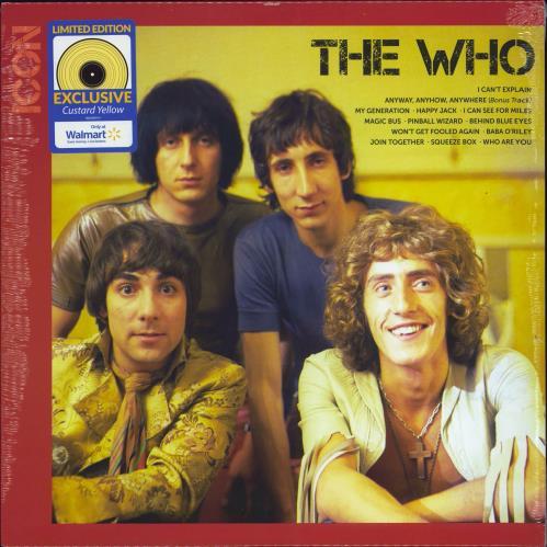 The Who Icon - Custard Yellow Vinyl - Sealed vinyl LP album (LP record) US WHOLPIC774707