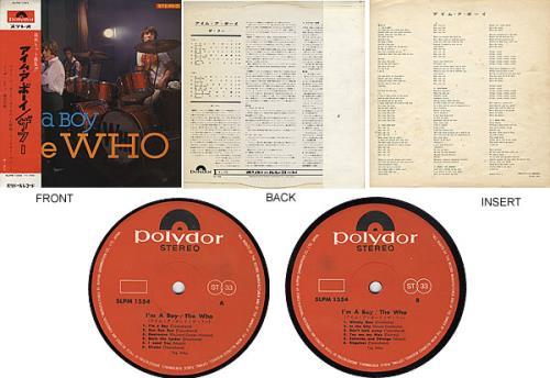 The Who I'm A Boy - With Lyric Insert & Obi vinyl LP album (LP record) Japanese WHOLPIM307326