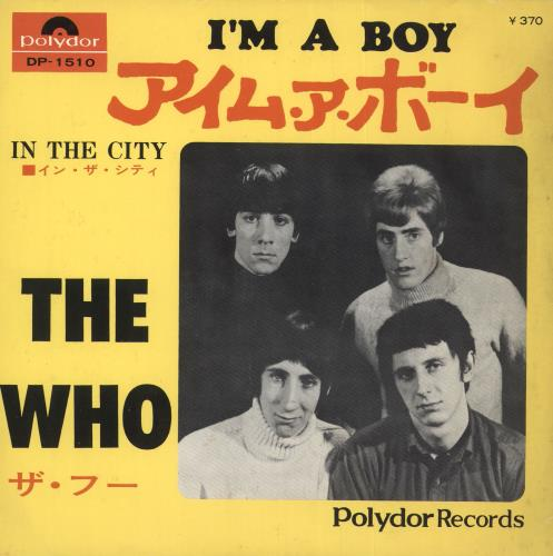 "The Who I'm A Boy 7"" vinyl single (7 inch record) Japanese WHO07IM723367"