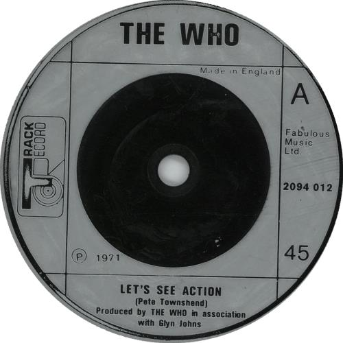 """The Who Let's See Action - Silver Injection 7"""" vinyl single (7 inch record) UK WHO07LE222306"""