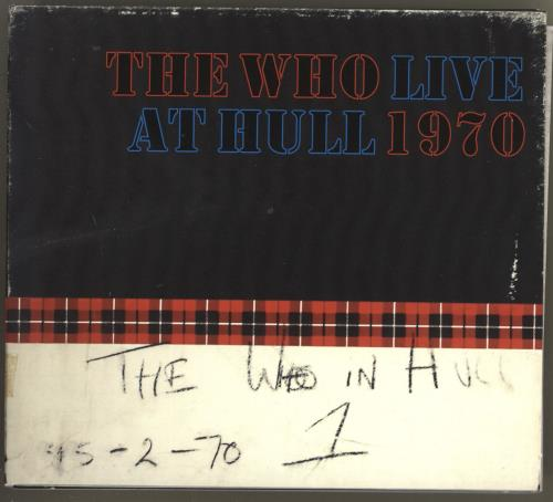 The Who Live At Hull 2 CD album set (Double CD) UK WHO2CLI716594