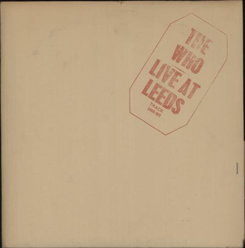 The Who Live At Leeds - 1st - Red - Complete - EX vinyl LP album (LP record) UK WHOLPLI724993