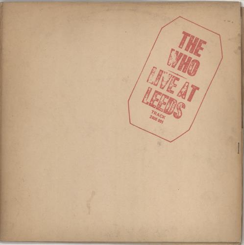 The Who Live At Leeds - 1st Red - Complete - VG vinyl LP album (LP record) UK WHOLPLI766309