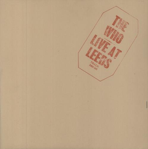 The Who Live At Leeds - Complete - Red Text vinyl LP album (LP record) UK WHOLPLI258391