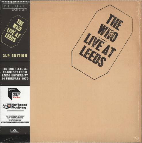 The Who Live At Leeds - Deluxe Edition - Half Speed Mastered 3-LP vinyl record set (Triple Album) UK WHO3LLI706210