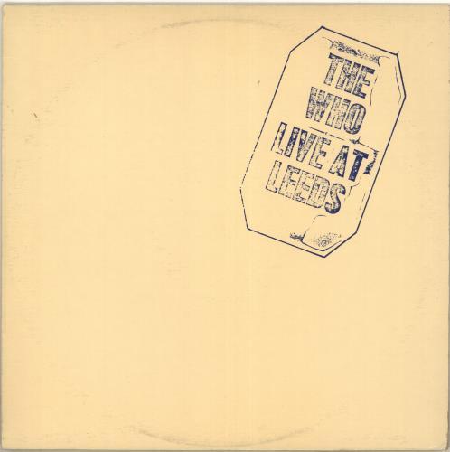 The Who Live At Leeds vinyl LP album (LP record) Canadian WHOLPLI713646