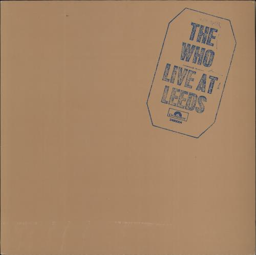 The Who Live At Leeds vinyl LP album (LP record) German WHOLPLI726820