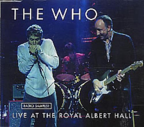 """The Who Live At The Royal Albert Hall - Radio Sampler CD single (CD5 / 5"""") German WHOC5LI260500"""