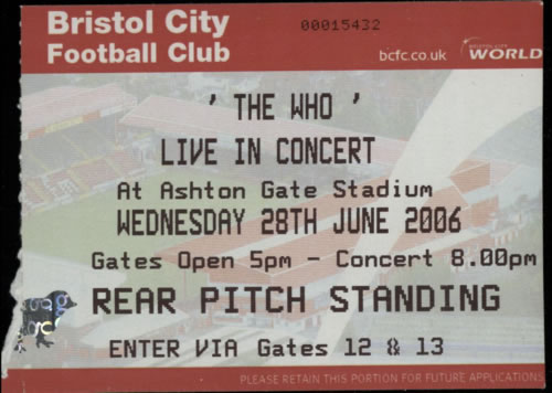 The Who Live In Concert - Tour Programme & Tickets tour programme UK WHOTRLI384249