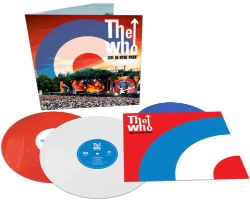 The Who Live In Hyde Park - Red, White & Blue Vinyl 3-LP vinyl record set (Triple Album) UK WHO3LLI746461