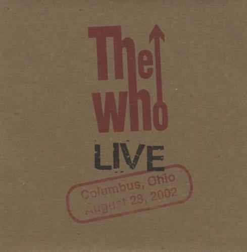 The Who Live: Columbus, Ohio August 28, 2002 2 CD album set (Double CD) US WHO2CLI400746