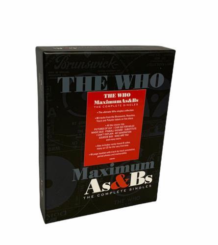 The Who Maximum As & Bs (The Complete Singles) - Sealed CD Album Box Set Dutch WHODXMA686841