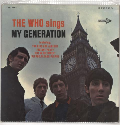 The Who My Generation - 1st vinyl LP album (LP record) US WHOLPMY728003
