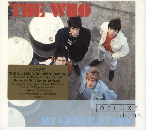 The Who My Generation - Stickered 2 CD album set (Double CD) UK WHO2CMY736608