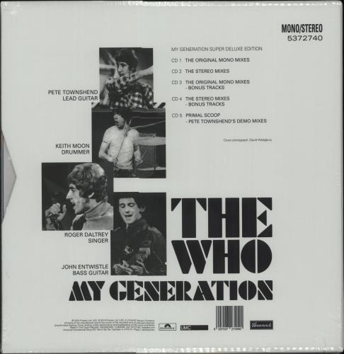 The Who My Generation - Super Deluxe Edition - Sealed CD Album Box Set UK WHODXMY668556