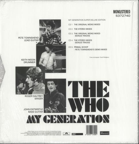 The Who My Generation - Super Deluxe Edition - stickered CD Album Box Set UK WHODXMY724034