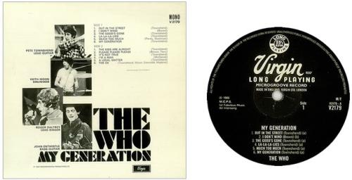 The Who My Generation - VG vinyl LP album (LP record) UK WHOLPMY60779