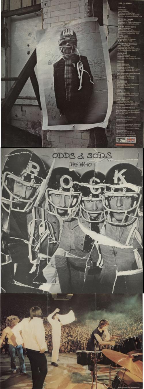 The Who Odds & Sods - 1st + Poster vinyl LP album (LP record) UK WHOLPOD257402