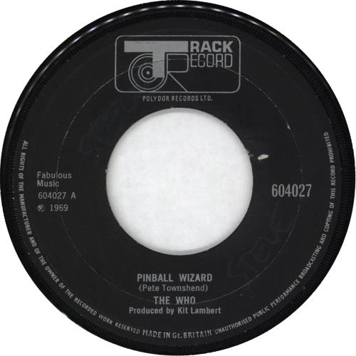 """The Who Pinball Wizard - Wide 7"""" vinyl single (7 inch record) UK WHO07PI93759"""