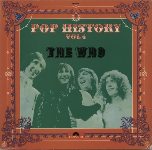 The Who Pop History Vol. 4 2-LP vinyl record set (Double Album) German WHO2LPO90001