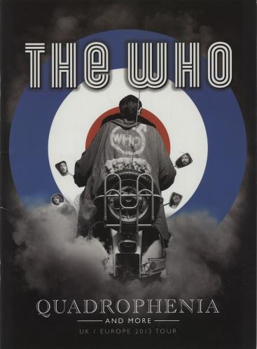 The Who Quadrophenia + ticket tour programme UK WHOTRQU656211
