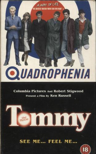 The Who Quadrophenia / Tommy - Sealed Box video (VHS or PAL or NTSC) UK WHOVIQU728138