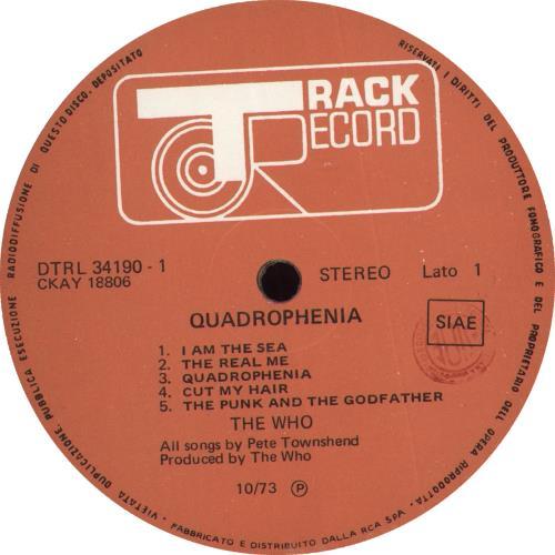 The Who Quadrophenia - 1st + Booklet Italian 2-LP vinyl