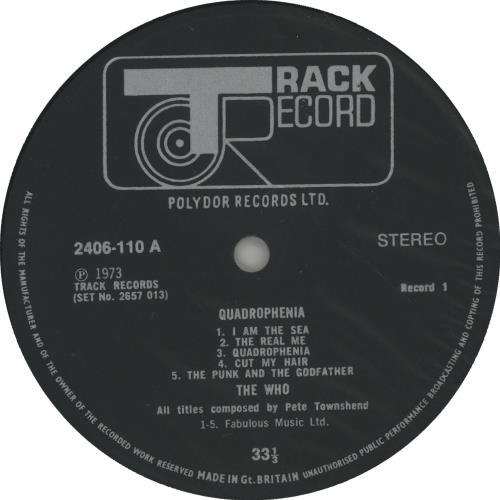 The Who Quadrophenia - 1st 2-LP vinyl record set (Double Album) UK WHO2LQU115412