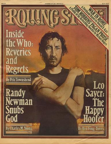 The Who Rolling Stone - November 1977 magazine US WHOMARO347745