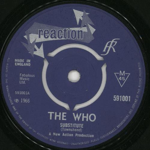 """The Who Substitute / Instant Party - 3pr - VG 7"""" vinyl single (7 inch record) UK WHO07SU731075"""