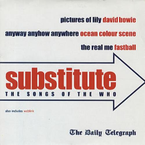 """The Who Substitute - The Songs Of The Who CD single (CD5 / 5"""") UK WHOC5SU192377"""