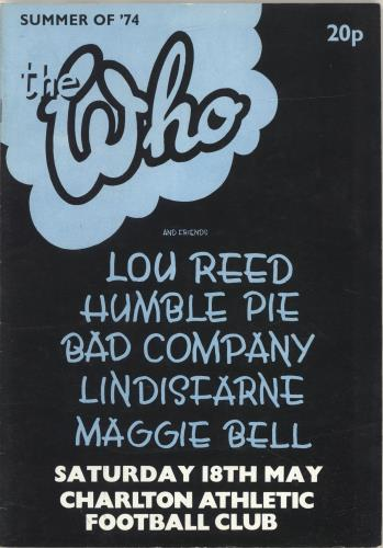The Who Summer of '74 tour programme UK WHOTRSU340854