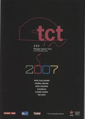 The Who Teenage Cancer Trust 2007 tour programme UK WHOTRTE677306