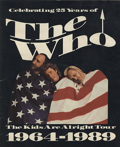 The Who The Kids Are Alright Tour 1964-1989 tour programme UK WHOTRTH340872