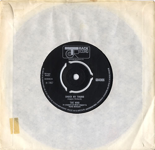 """The Who The Last Time 7"""" vinyl single (7 inch record) UK WHO07TH192425"""