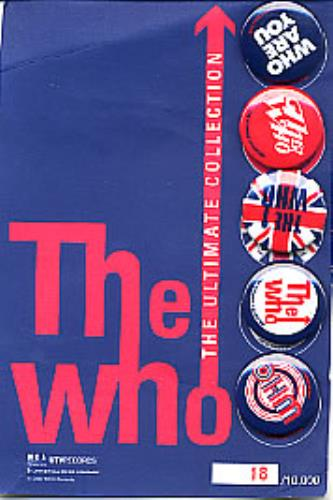 The Who The Ultimate Collection - Badge Pack memorabilia US WHOMMTH223007