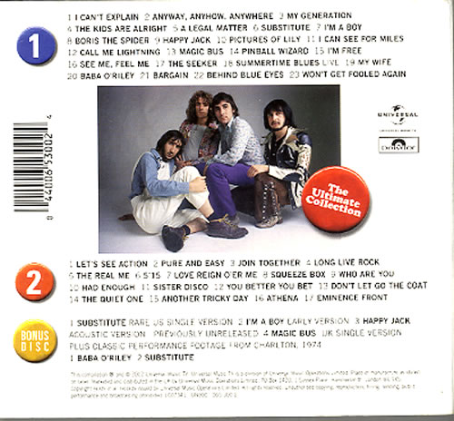 The Who The Ultimate Collection 3-CD album set (Triple CD) UK WHO3CTH225276