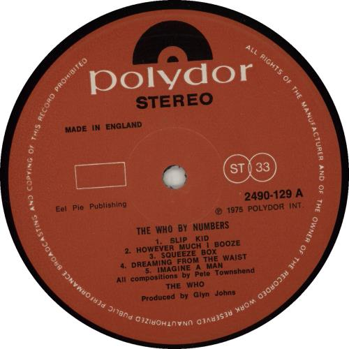 The Who The Who By Numbers - 1st vinyl LP album (LP record) UK WHOLPTH547350