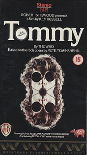The Who Tommy - The Movie video (VHS or PAL or NTSC) UK WHOVITO303955