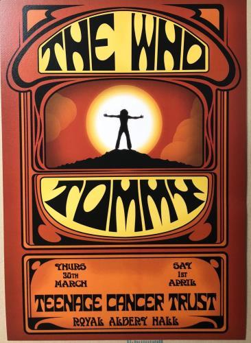 The Who Tommy Live - Royal Albert Hall 2017 poster UK WHOPOTO722887