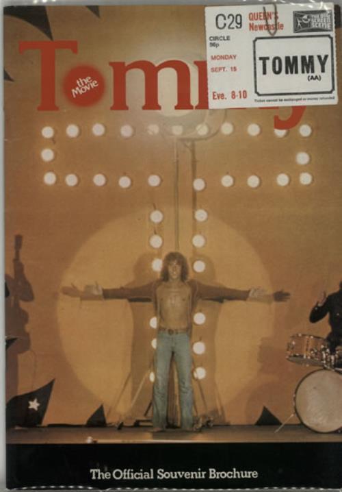 The Who Tommy The Movie + Ticket Stub tour programme UK WHOTRTO640361