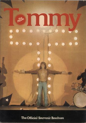 The Who Tommy The Movie + Ticket stub tour programme UK WHOTRTO731849