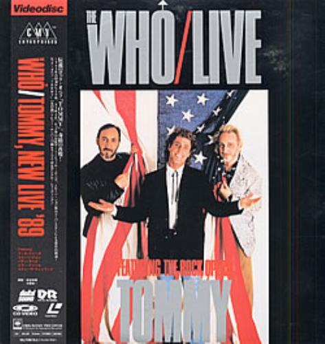 The Who Tommy, New Live '89 laserdisc / lazerdisc Japanese WHOLZTO212730