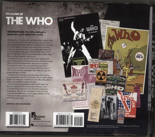 The Who Treasures Of The Who book US WHOBKTR716967