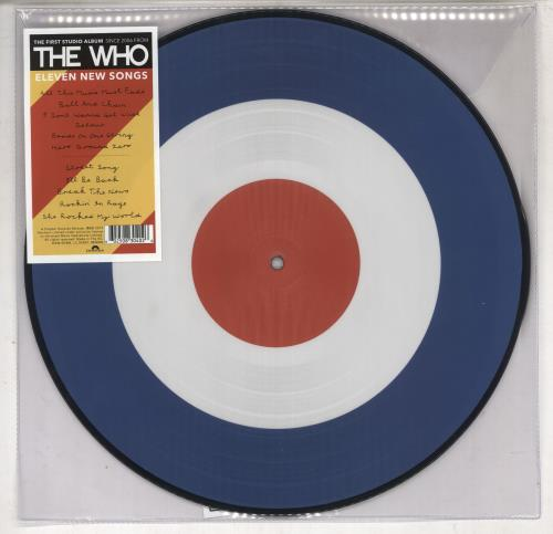 The Who WHO picture disc LP (vinyl picture disc album) UK WHOPDWH735050