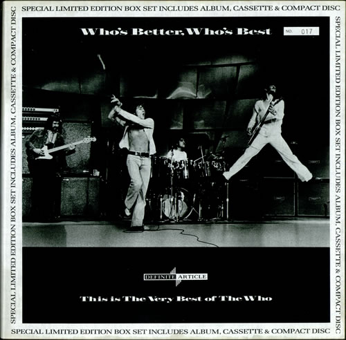 The Who Who's Better Who's Best box set UK WHOBXWH06245